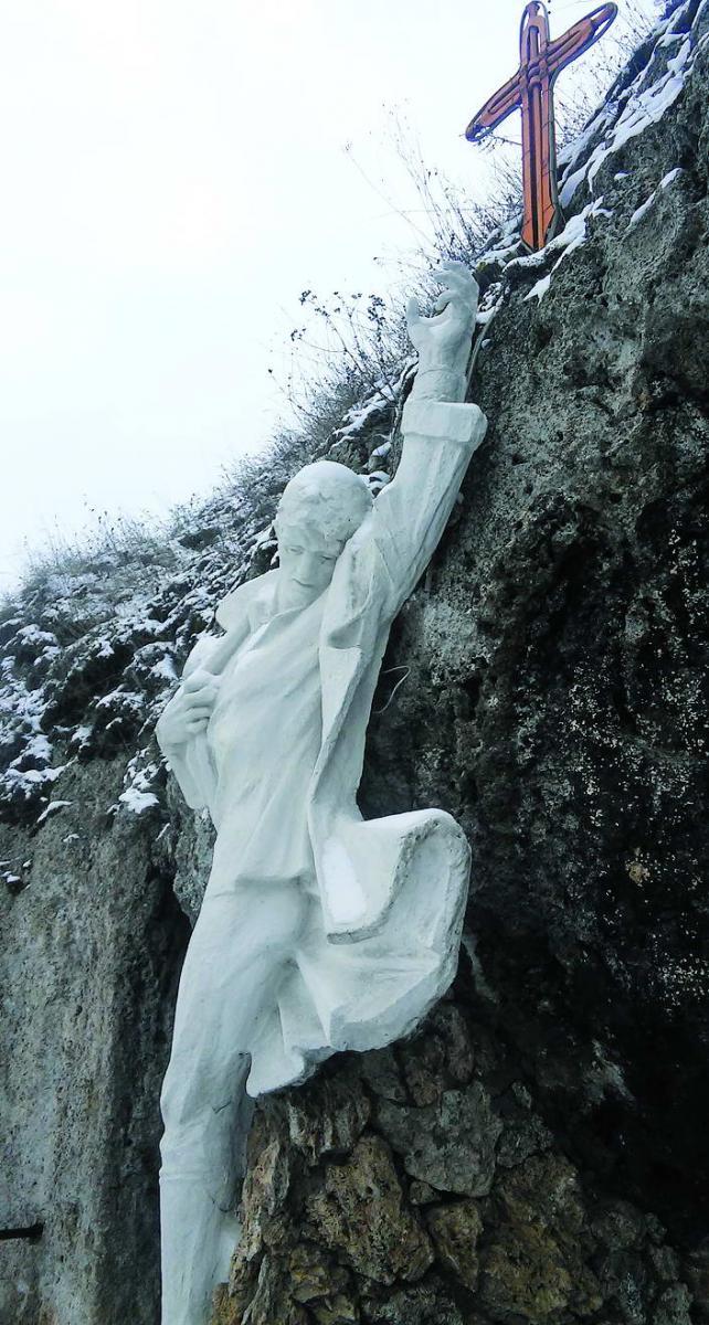 Пам'ятник спаленому повстанцю у Рукомиші