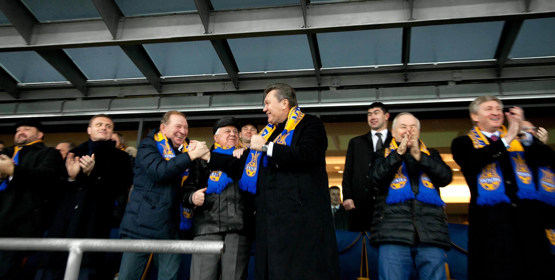 На матч особисто відвідав Президент України Віктор Янукович та інші  українські високопосадовці 23f78e6a3dad9