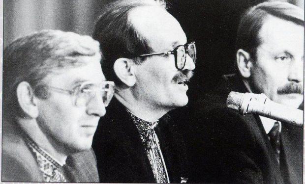 Михайло Бойчишин (на передньому плані) та В'ячеслав Чорновіл